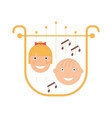 kids music festival emblem vector image vector image