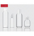 mock up realistic glass spray bottle isolated on vector image