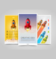 modern vertical banners creative idea 3d leader vector image vector image