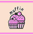 muffin logotype template vector image