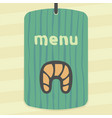 outline croissant icon modern infographic logo and vector image vector image