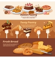 Pastry Banner Set vector image vector image