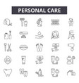 personal care line icons signs set vector image vector image