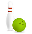 pin with bowling ball vector image