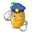 police fresh honeydew melon on cartoon table vector image vector image