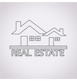 real estate design icon vector image