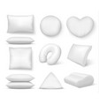 realistic white cushion square comfort bed pillow vector image vector image