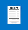 receipt document icon digital bill sale vector image