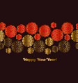red and gold pattern in china style vector image vector image