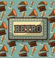 retro vintage devices vector image vector image