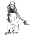 reynard the fox rukenaw the ape vintage vector image vector image