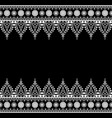 seamless indian mehndi henna line lace elements vector image vector image