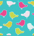 seamless pattern with colorful birds vector image vector image