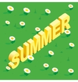 Seamless simple flowers patterns Word Summer vector image