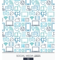 Social Media wallpaper Network communication vector image vector image