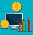 Stock market and economy graphic design vector image