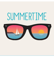 summertime landscape sunset sunglasses vector image vector image