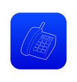 support phone icon blue vector image vector image