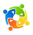 Teamwork together 4 vector image vector image