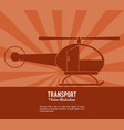 transport helicopter vehicle design vector image vector image