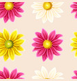 varicolored chrysanthemums seamless vector image vector image