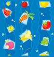 vegetarian vegetables and fruits seamless pattern vector image vector image