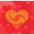 wave heart vector image