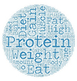 Why You Don t Need Protein To Gain Muscle text vector image vector image