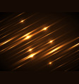 yellow line glow light background vector image