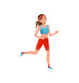 young woman running professional sportswoman vector image