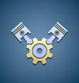 Icon machine engine vector image
