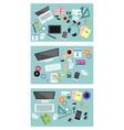 variants of equipment desktop vector image