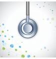 Stethoscope on Medical Background vector image