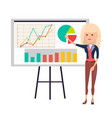 working woman color poster vector image