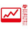stock market icon with dating bonus vector image