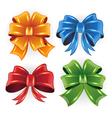 Festive bows vector image