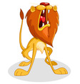 roaring lion vector image