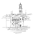 Adige River Embankment in Verona Italy vector image