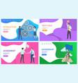 best idea of businessman leadership posters set vector image vector image