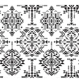 Black and white ethnic seamless pattern with vector image vector image