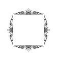 black contour vintage classic square frame vector image