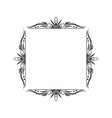 black contour vintage classic square frame vector image vector image