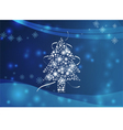 Blue Chirstmas theme vector image