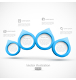 Blue circle banners 3d vector | Price: 1 Credit (USD $1)