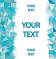 Blue polygons background with place for your text vector image