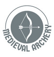 bow arrow logo simple gray style vector image