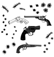 bullet holes vector image vector image