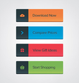 Call-To-Action button set vector image