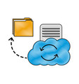 cloud computing reload folder file data document vector image