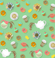Coffee and Tea Pattern vector image vector image